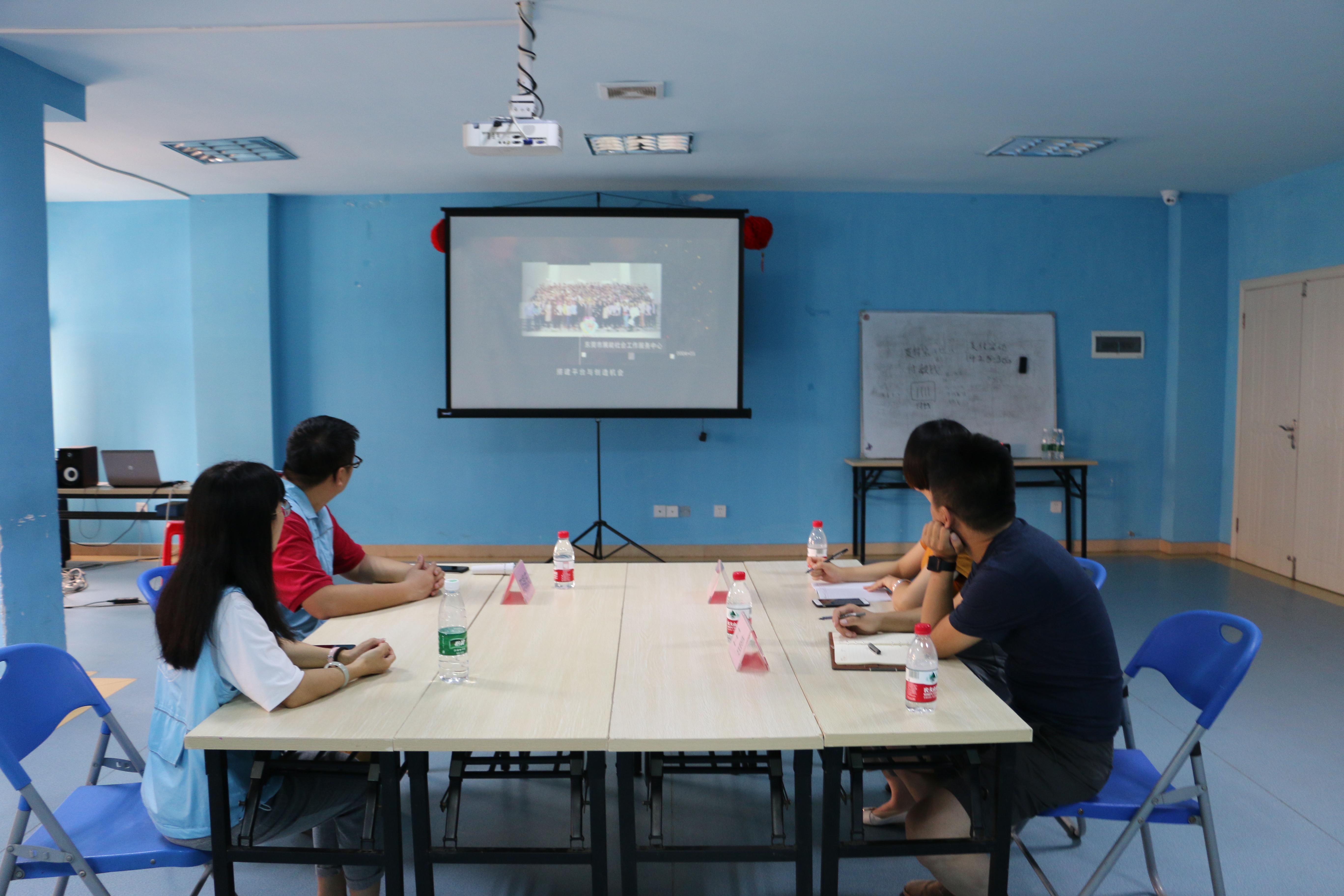 鄂尔多斯市社会创新发展中心代表莅临万江残疾人康复就业中心参观交流